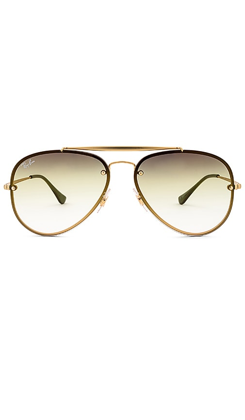 a4a6f2b418d4c Ray-Ban Blaze Aviator in Demi Gloss Gold   Grey Green Gradient