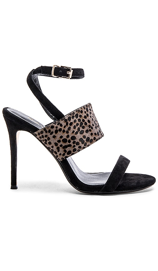 RAYE Billie Cow Hair Heel in Black