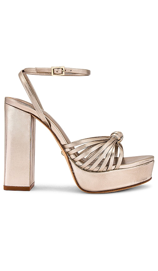 RAYE Alessi Heel in Metallic Gold. - size 7 (also in 10, 7.5, 8, 8.5, 9, 9.5)