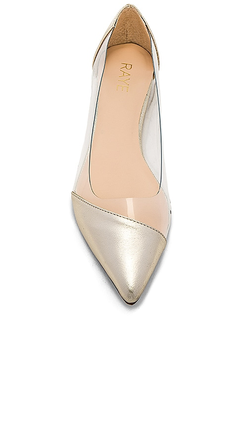 RAYE Philipp Flat in Metallic Gold