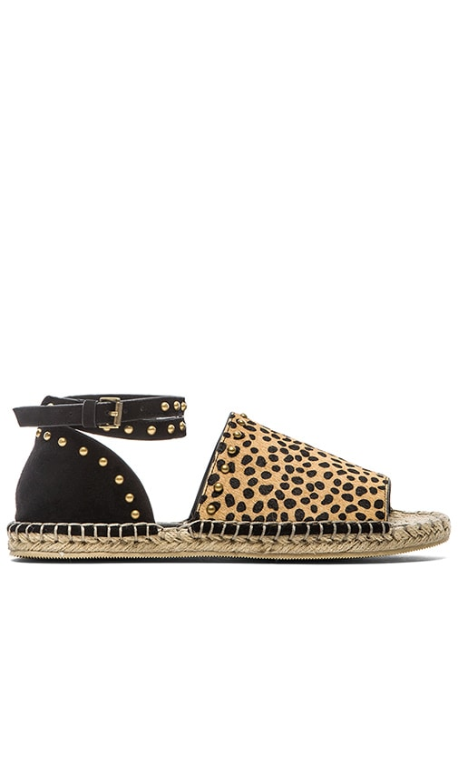 RAYE Deb Calf Hair Espadrille in Black & Spotted Pony