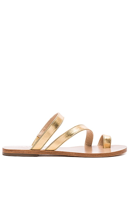 RAYE Sisley Sandal in Gold Metallic
