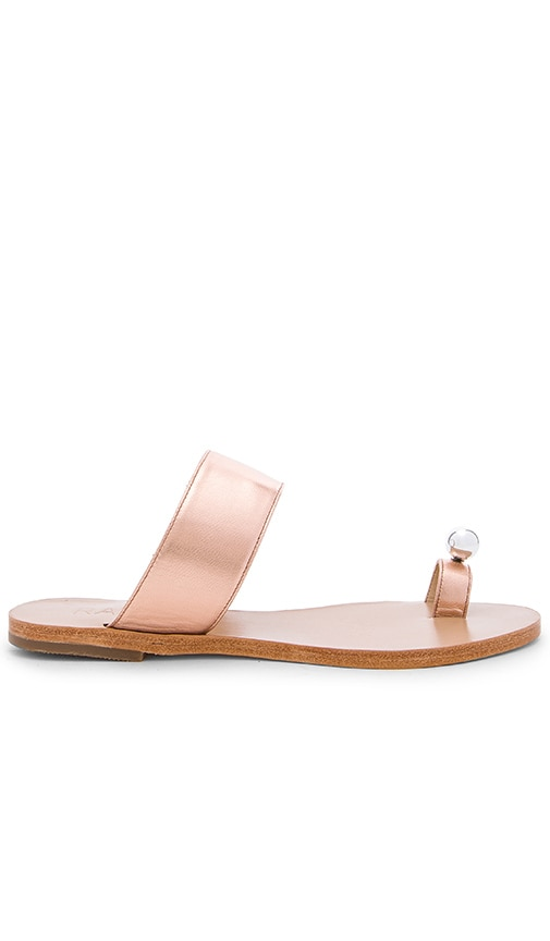 RAYE Summer Sandal in Metallic Copper