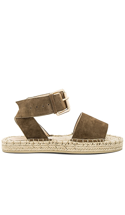 RAYE Damien Flatform Sandal in Taupe