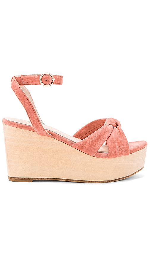 RAYE Faye Wedge in Coral