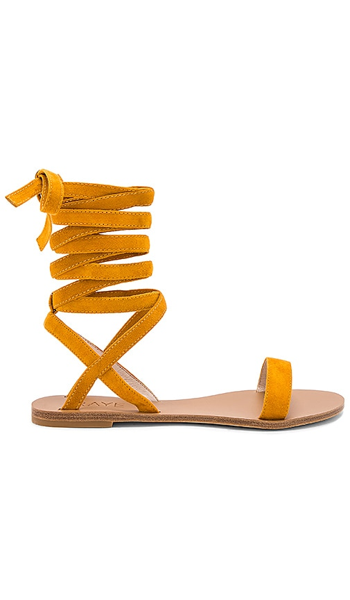 RAYE Sal Sandal in Burnt Orange