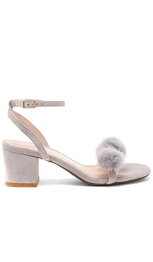 RAYE x REVOLVE Amara Mink Fur Sandal in Gray