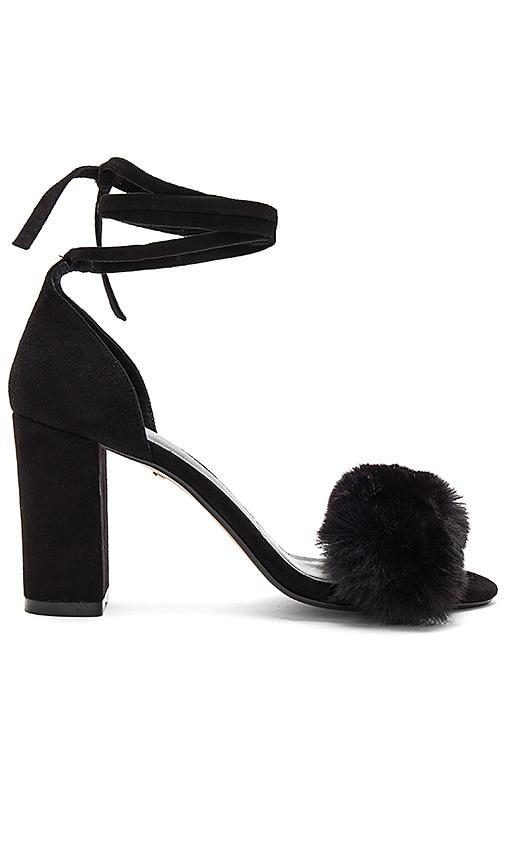 RAYE Lacey Faux Fur Heel in Black