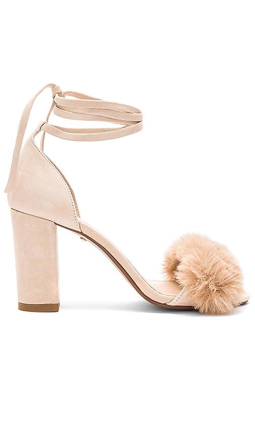 RAYE Lacey Faux Fur Heel in Beige