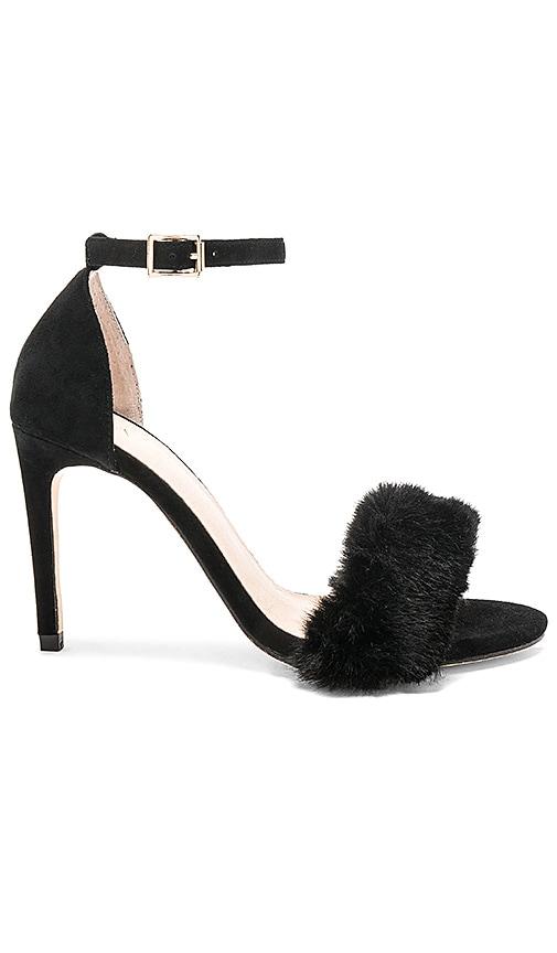 RAYE Holmes Faux Fur Heels in Black