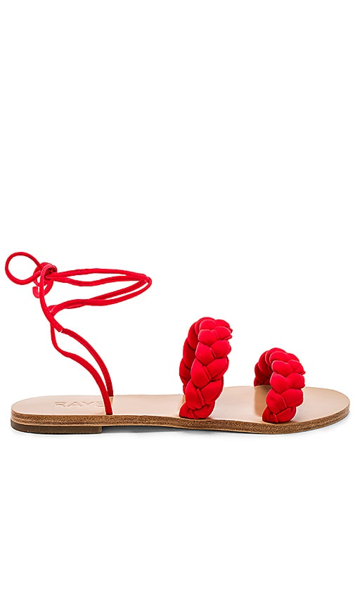 Chance Sandal In Red. Sandale Chance En Rouge. - Size 8 (also In 5.5,6,6.5,7,7.5) Raye - Taille 8 (également En 5.5,6,6.5,7,7.5) Raye