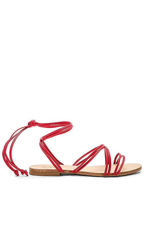RAYE Chance Sandal in Red