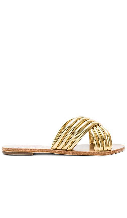 RAYE Ziggy Sandal in Metallic Gold