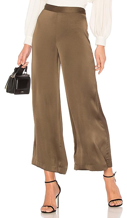 High-rise wide-leg satin trousers