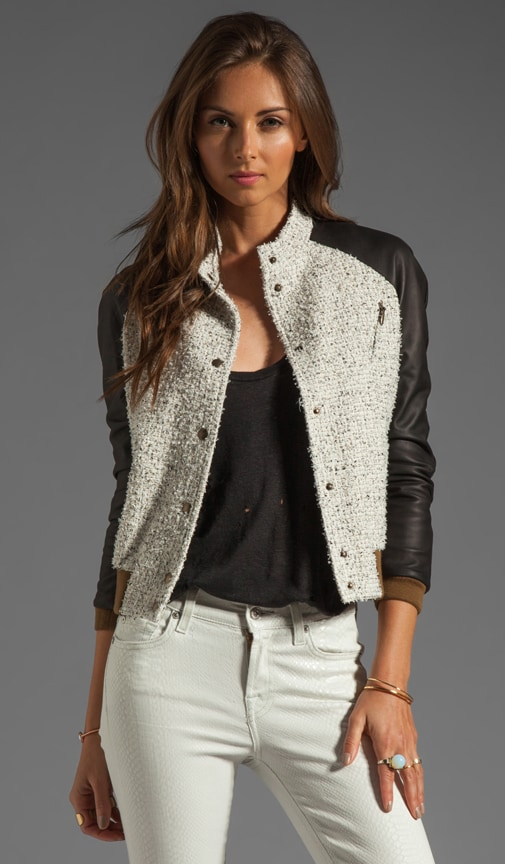Paris Jacket with Leather Sleeves