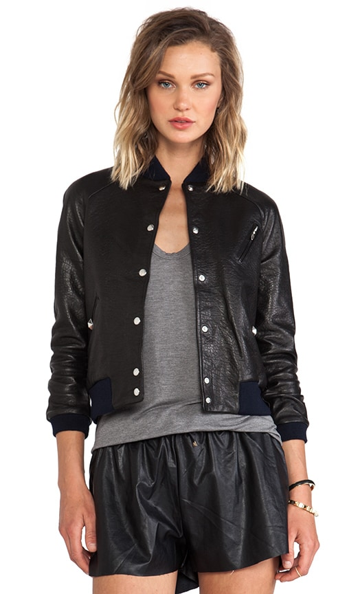 Paris Grease Leather Bomber
