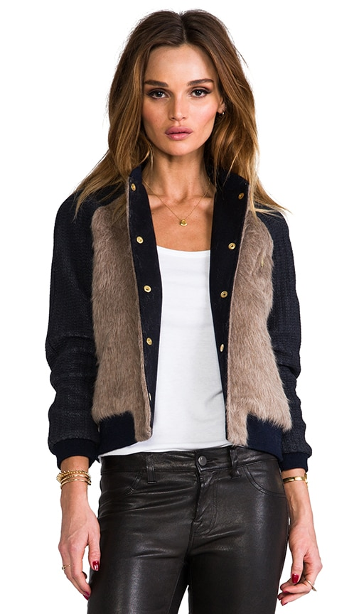 Paris Juno Faux Fur Bomber