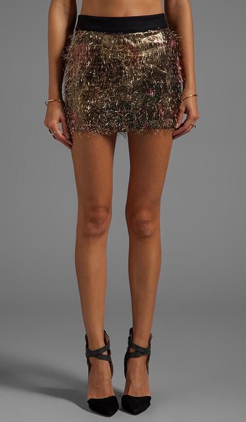 Gorden Tinsel Gold Camo Skirt