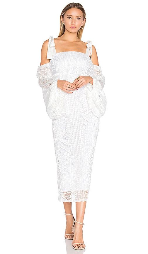 Rebecca Vallance Pulitzer Drape Sleeve Midi Dress in White
