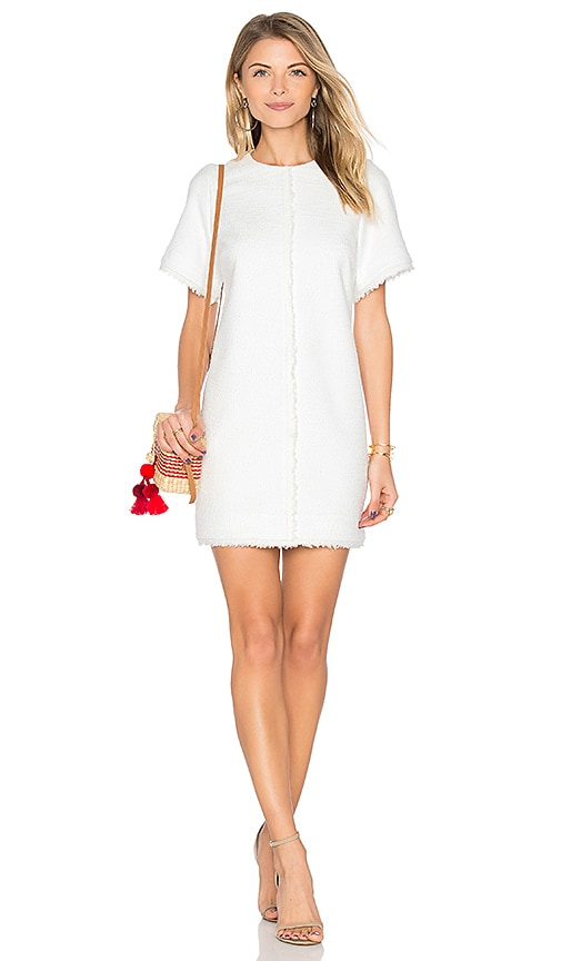 Rebecca Vallance Harris Shift Mini Dress in White