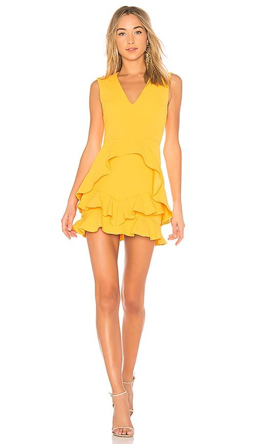 Rebecca Vallance Havana Mini Dress in Yellow