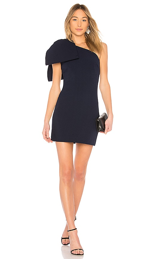 Rebecca Vallance Hamptons Bow Mini Dress in Navy