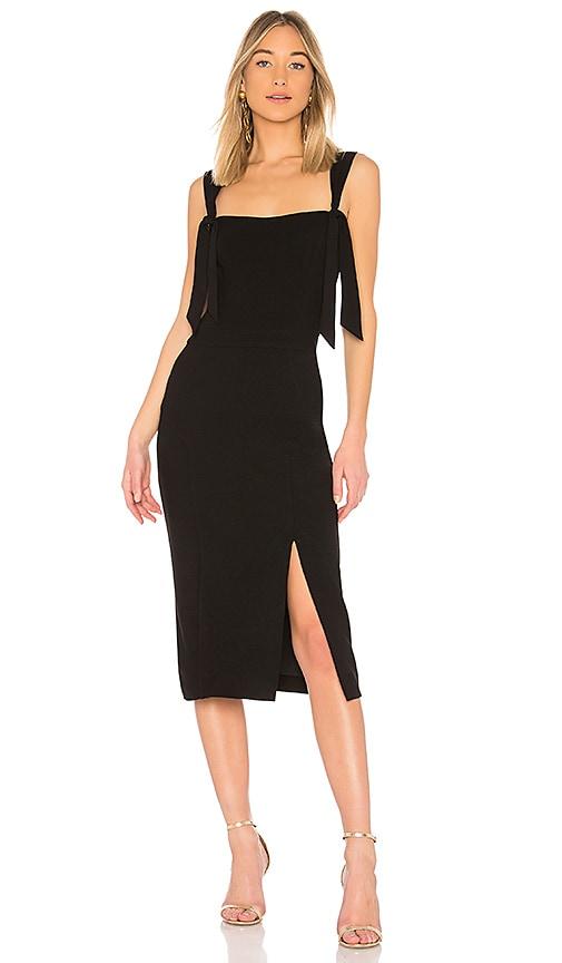 Rebecca Vallance Havana Midi Dress in Black