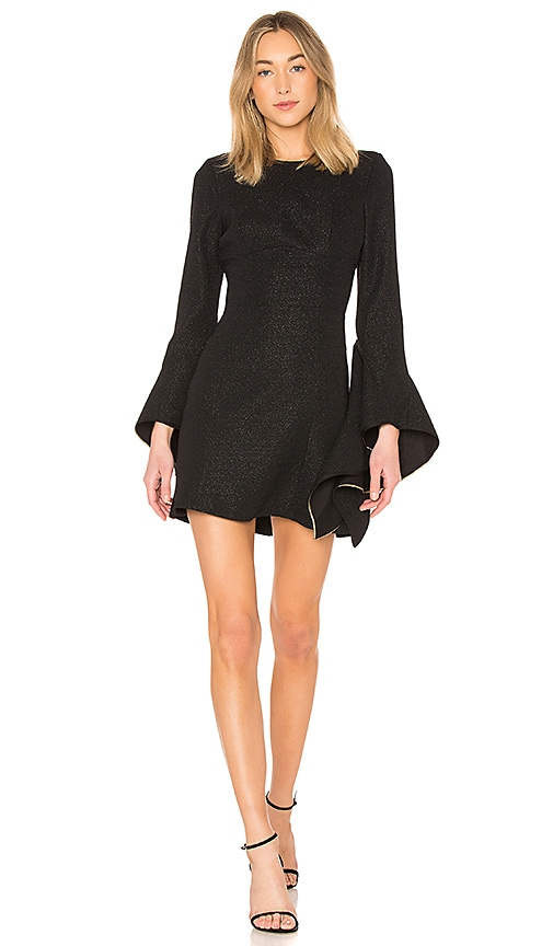 Rebecca Vallance Belize Mini Dress in Black