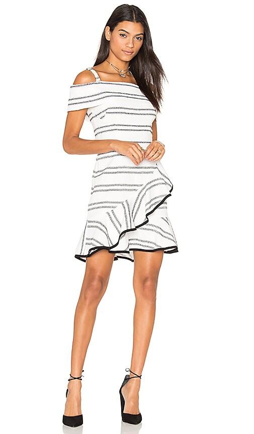 Rebecca Vallance Jupiter Ruffle Mini Dress in White