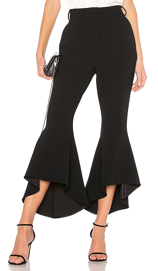 Rebecca Vallance St Barts Cropped Flare Pant in Black