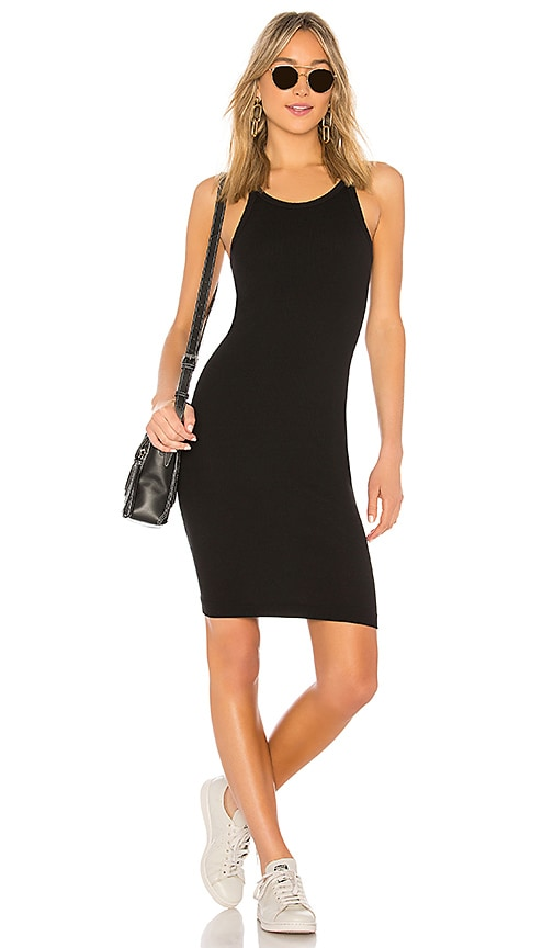RE/DONE Ribbed Tank Dress in Black