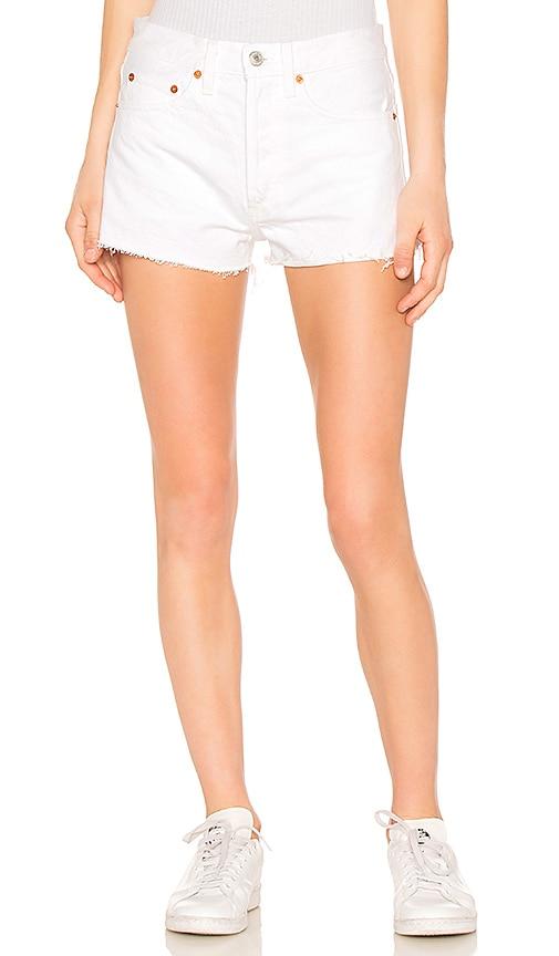 RE/DONE Originals The Short in Worn White
