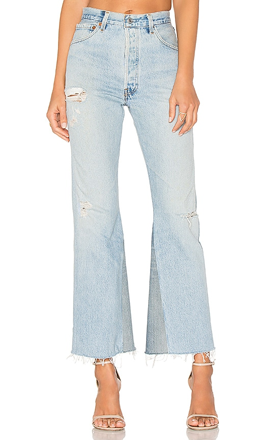 high rise cropped jeans - Blue Re/Done Cheap Largest Supplier Authentic jYzyQM0On8