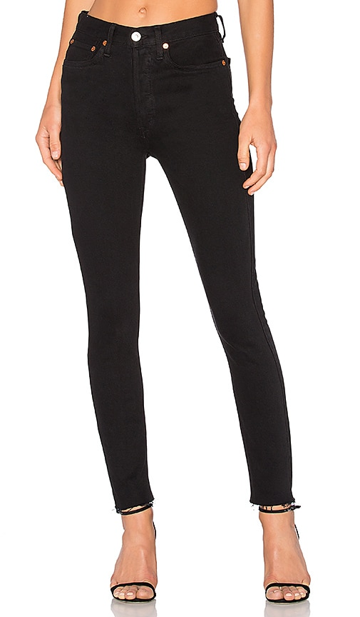 Black Originals Stretch High-Rise Ankle Crop Jeans