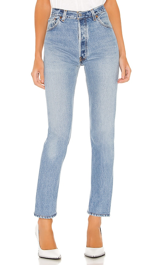RE/DONE High Rise Jeans in Blue NDS