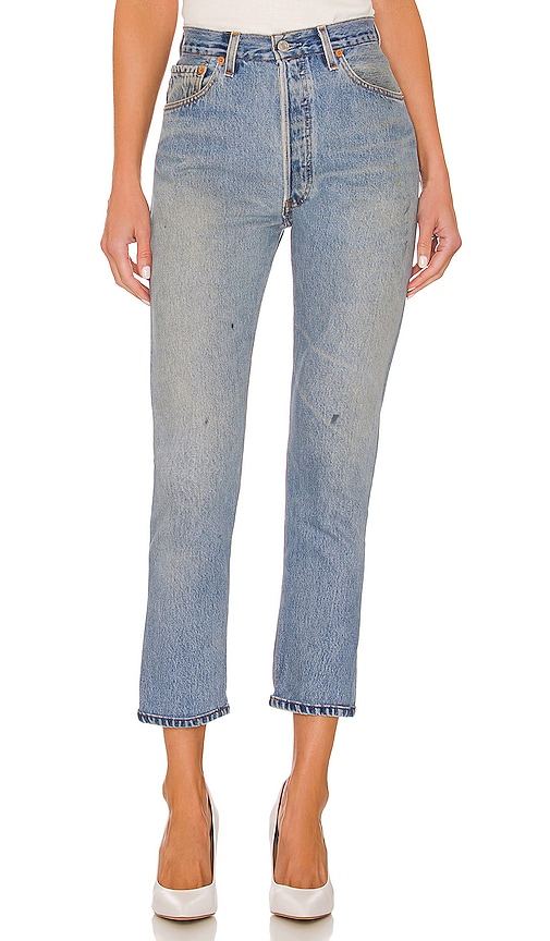 Levis Distressed high waisted cropped jeans Re/Done 100% Guaranteed Online Discount Manchester Cheap Sale Limited Edition With Mastercard Buy Cheap Supply XhI4HduOo