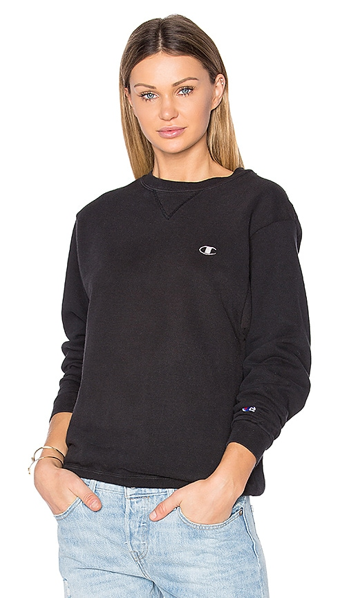 RE/DONE Oversized Champion Sweatshirt in Black