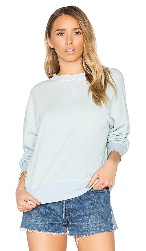 RE/DONE Oversized Crewneck Sweatshirt in Blue
