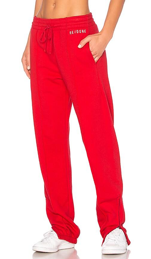 RE/DONE Originals Sweatpants in Red