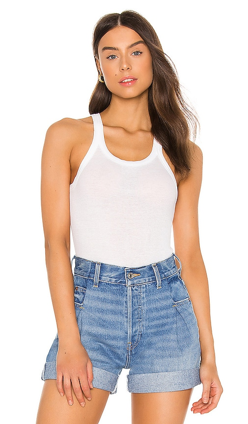 Ribbed Tank Bodysuit by RE/DONE, available on revolve.com for $125 Kaia Gerber Top SIMILAR PRODUCT