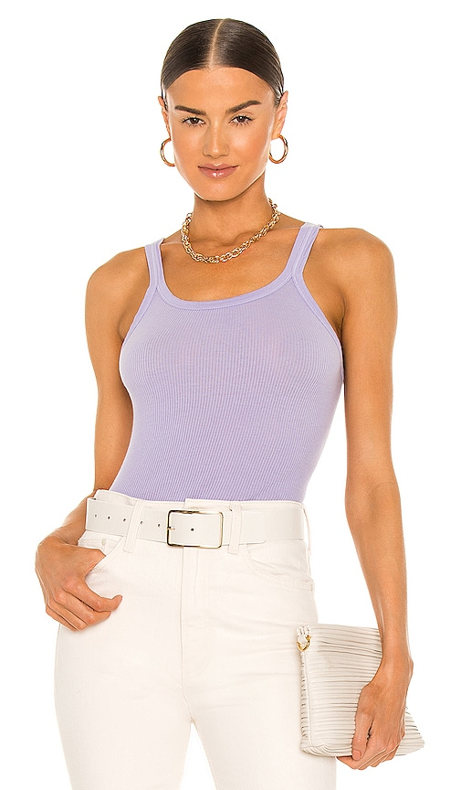 Re/done Downs X HANES RIBBED TANK
