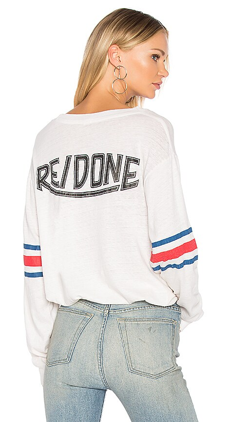 RE/DONE Graphic Long Sleeve Tee in White