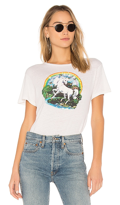 RE/DONE Originals Unicorn Dream Tee in White