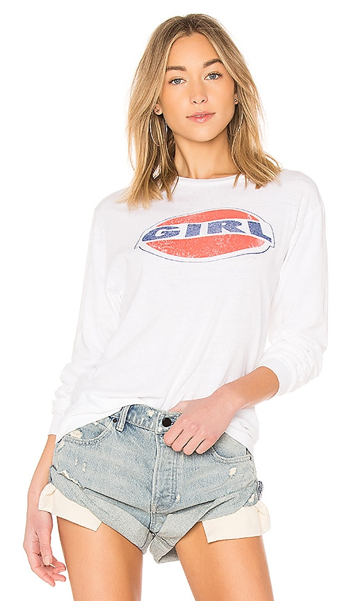 RE/DONE Girl Tee in White