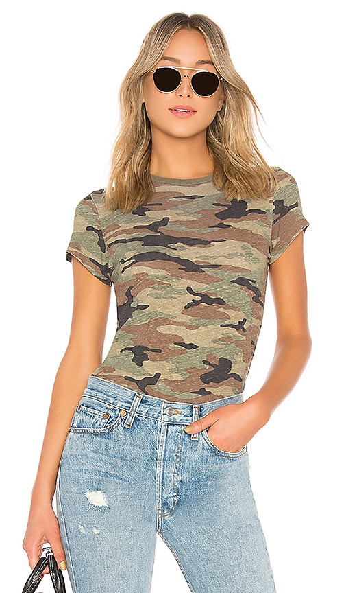 RE/DONE Slim Tee in Army