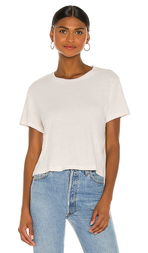 1950's Boxy Tee by RE/DONE, available on revolve.com for $90 Kaia Gerber Top SIMILAR PRODUCT