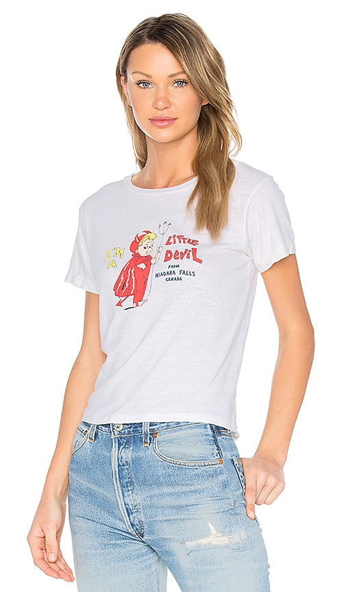 RE/DONE Little Devil Graphic Tee in White