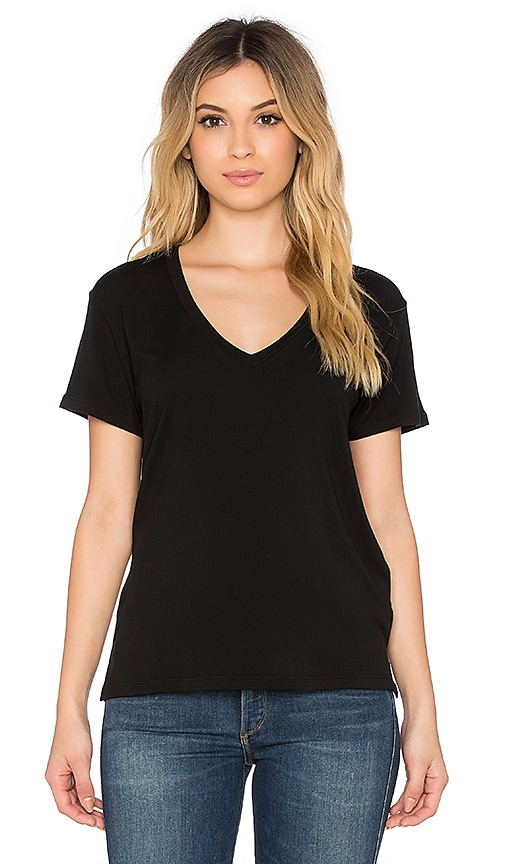 Regalect Barry V Neck Tee in Black
