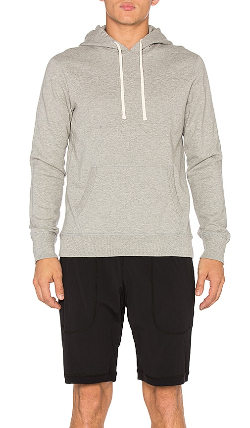 Reigning Champ Core Pullover Hoodie in Heather Grey
