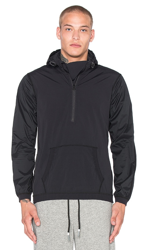 Reigning Champ Hybrid Zip Hoodie in Black